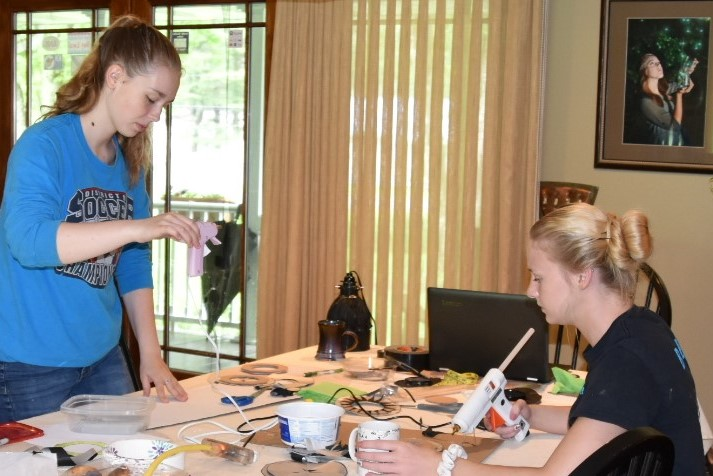 Summer interns: Belle Ralston, a Senior at West Forest HS on the left and Morgan Silvis, a Penn State student also from West Forest.