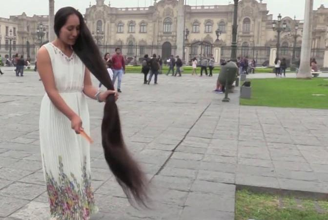 Woman-seeks-Guinness-record-with-58-foot-long-hair