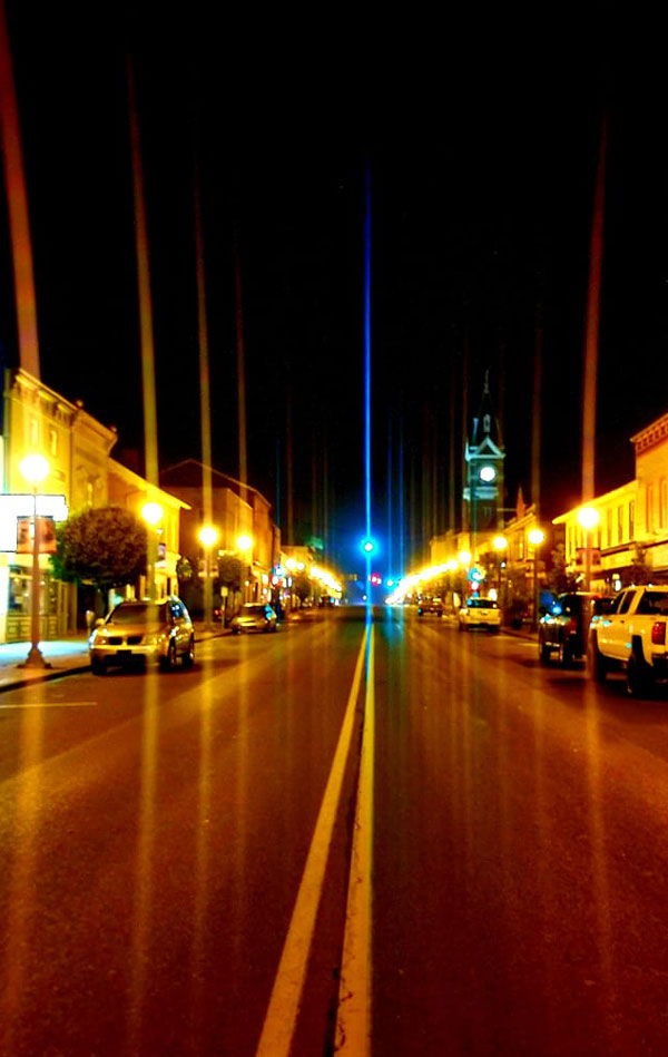 Downtown Clarion at night. Courtesy of Daddy's Main Street.