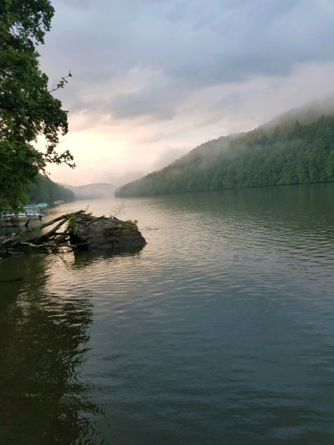 Fog rolling in over the Clarion River. Submitted by Jason Neely.