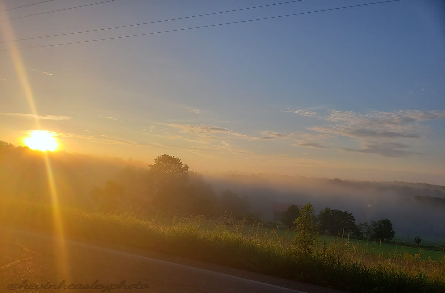 Foggy valley sunrise over the Maxwell Farm in Miola. Submitted by Kevin Leyheas.