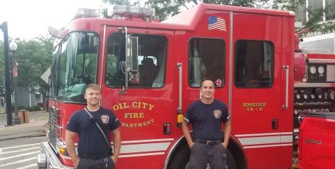 Kahle and McSparren Oil City Fire Truck