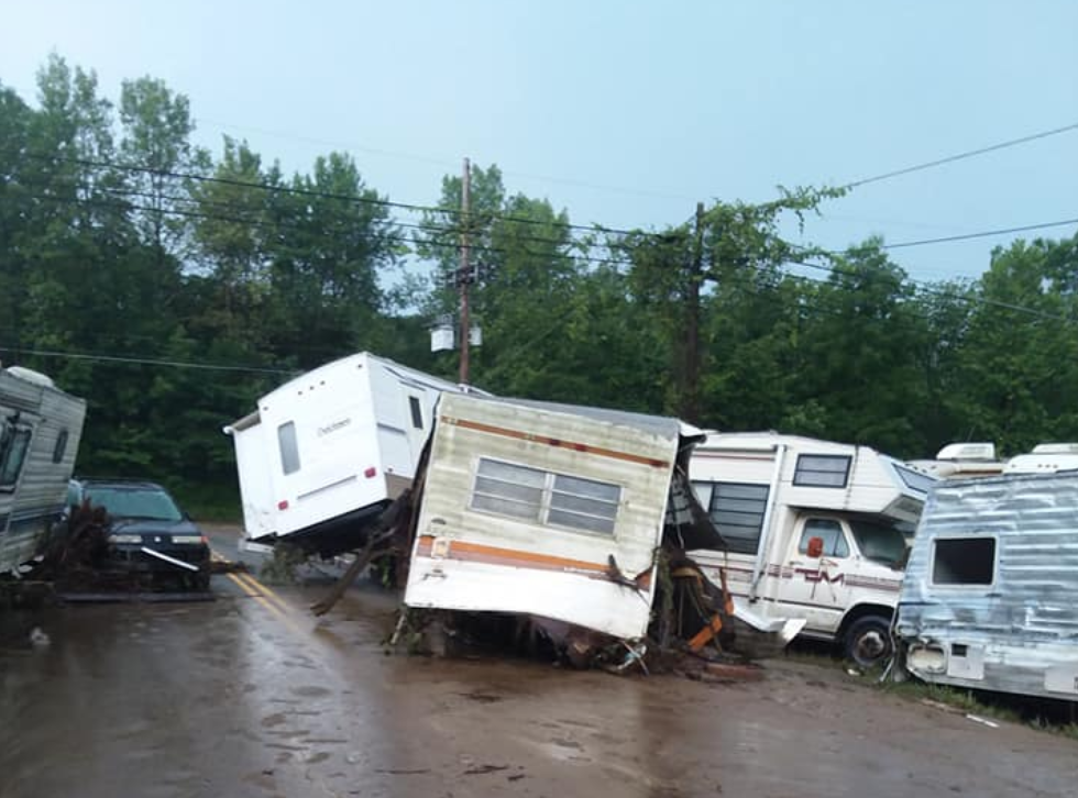 Photo of flooding aftermath on Deep Hollow Road by Austin Siar.