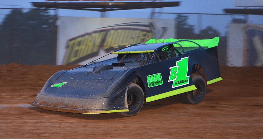Brandon Wearing scored his first career late model win Friday at Lernerville (Rick Rarer Photo)
