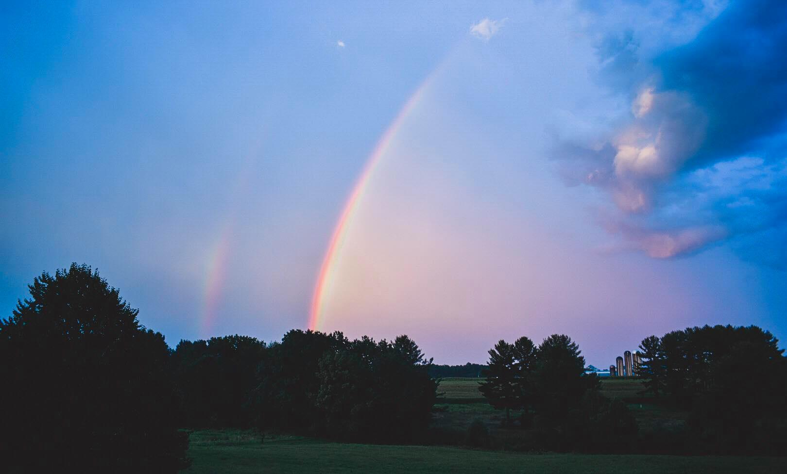 Rainbow in Lucinda. Submitted by Adriana Graham.