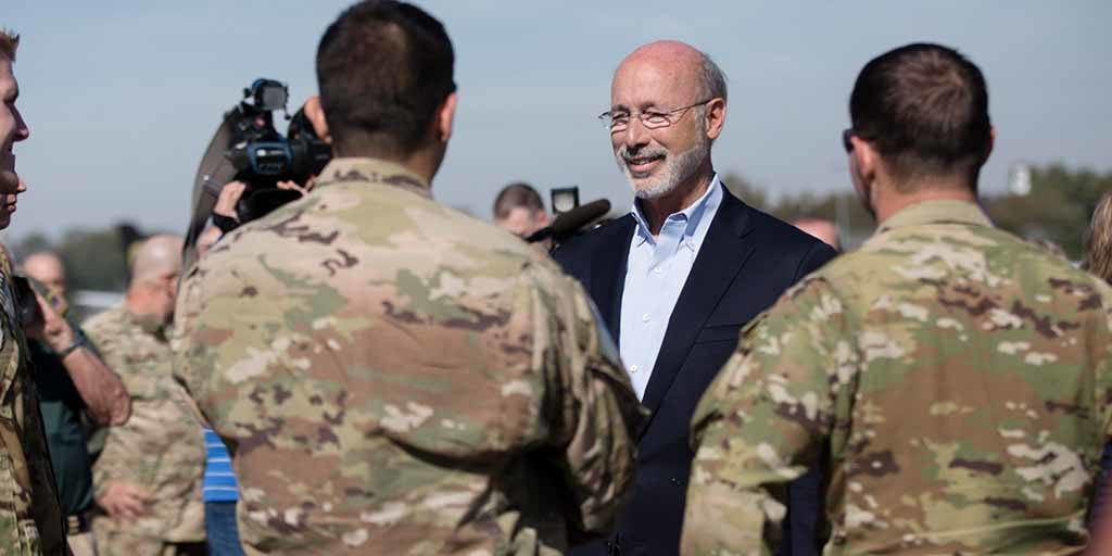 Gov  Wolf Thanks Pennsylvania National Guard Soldiers