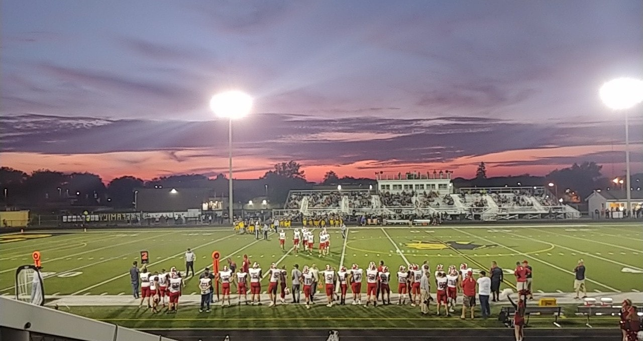 Beautiful sky over Redbank's winning game in Erie. Submitted by Stacy McCauley-Delp.