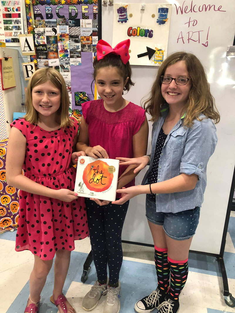 RV Elementary Schools as students and staff dressed in their best dot attire, which included many handmade creations in honor of International DOT Day. Courtesy of Redbank Valley Education Association.