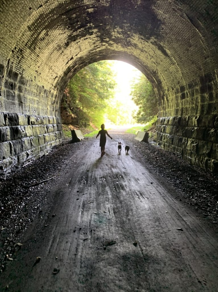 Long Point Tunnel on the Redbank Valley Trail.  Submitted by Shanin Shick.