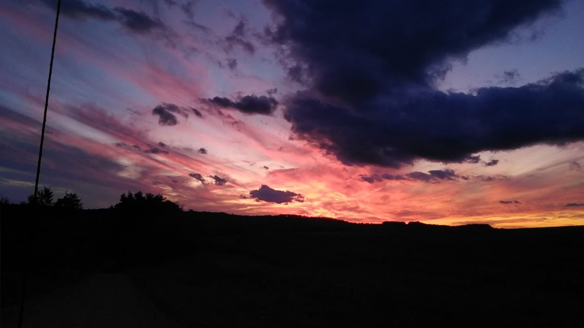 Sunset on Thompson Road in Rimersburg. Submitted by Kati Hornberger.