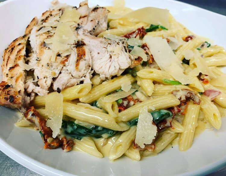 Tuscan Chicken Alfred Penne Pasta