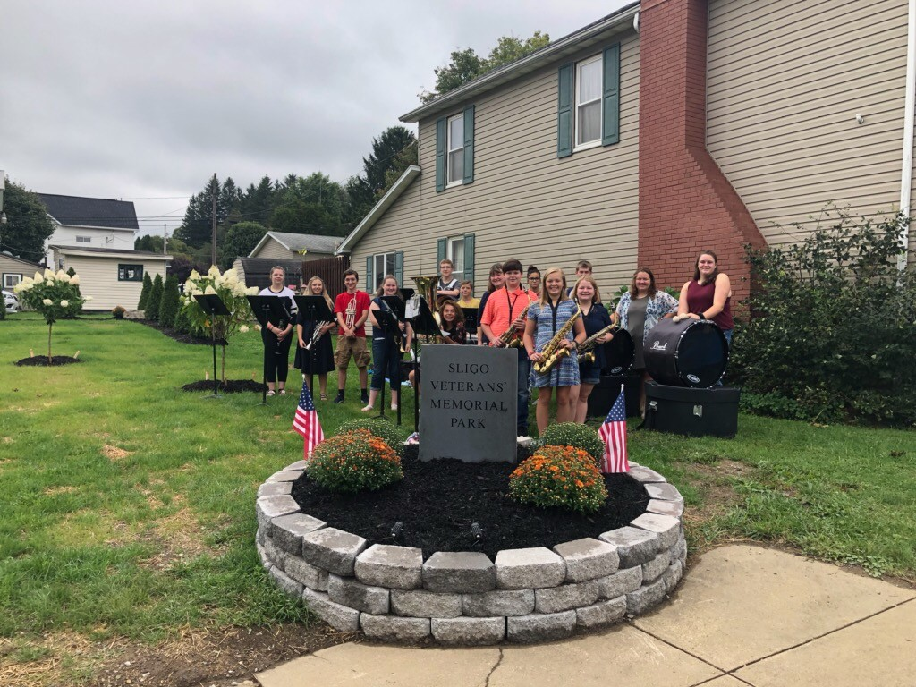 Union High School students who performed at the Sligo Veterans Memorial Dedication on Saturday. Courtesy of Union School District.