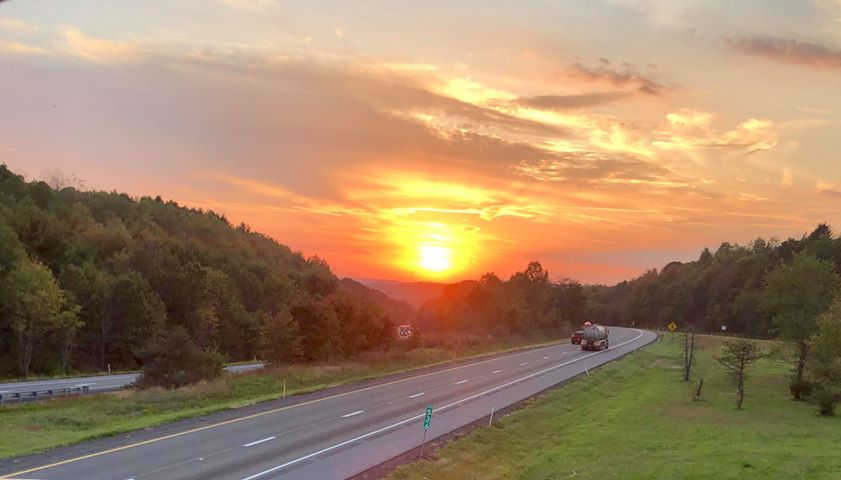 Beautiful sunset over Knox. Submitted by Mat-Kandi Beichner.