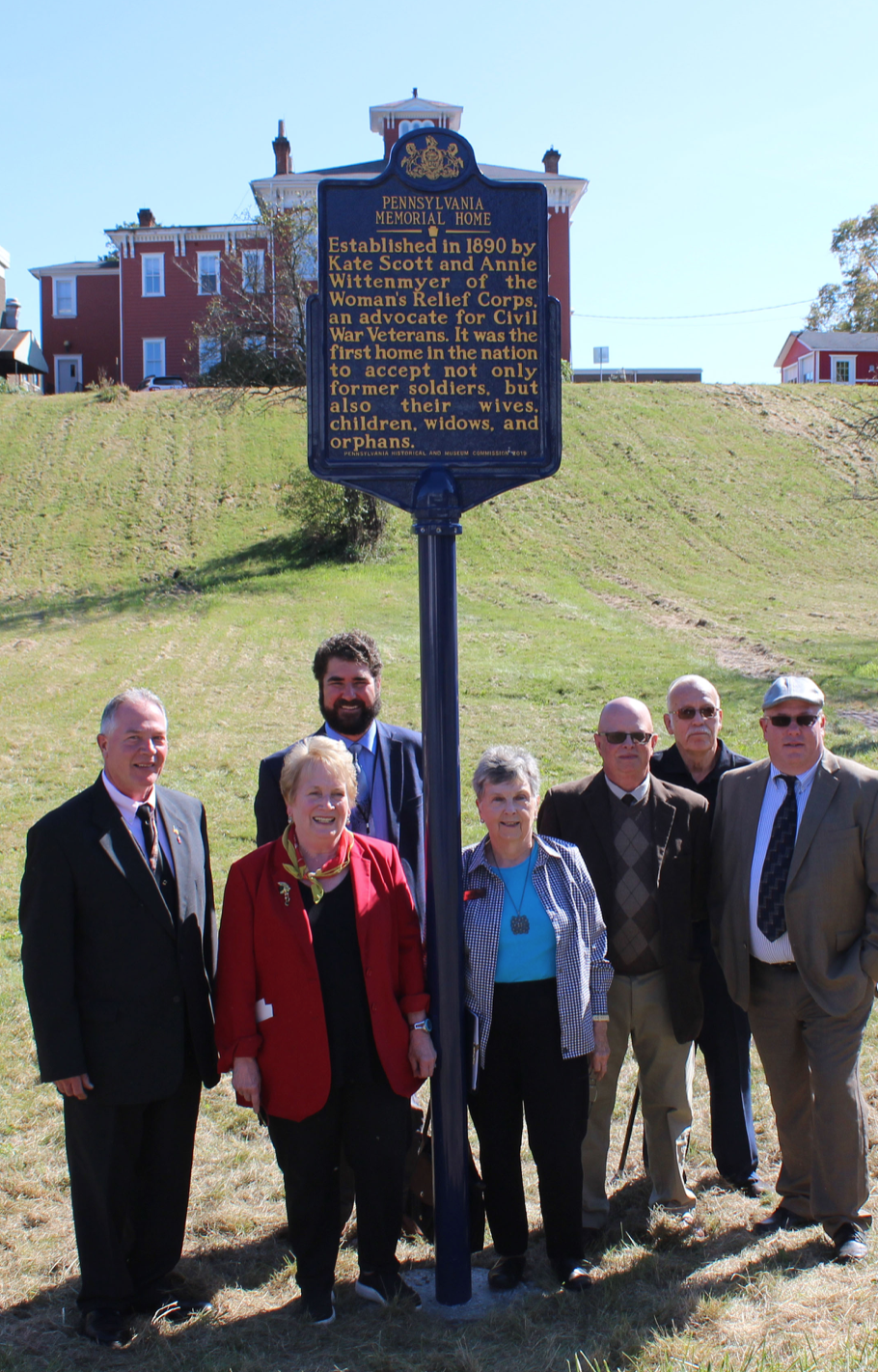 The Pennsylvania Memorial Home was honored with a new historical marker on Friday, October, 11, 2019