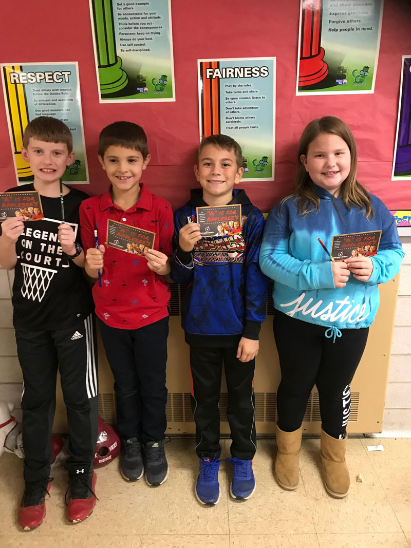 Redbank Valley Character Counts winners for third grade. Courtesy of Redbank Valley Education Association.