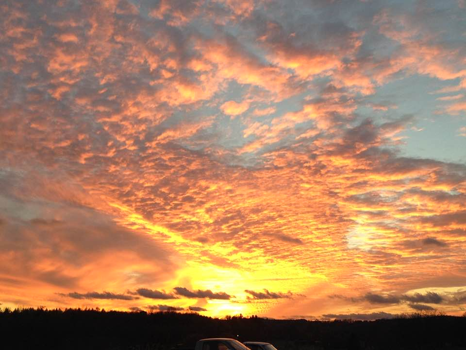 Sunset on McEwen Road in Sligo. Submitted by Dean Hornberger.