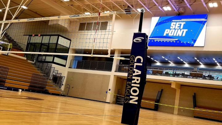 The inside of the newly renovated Tippin Gym. Photo courtesy of Clarion University Athletics