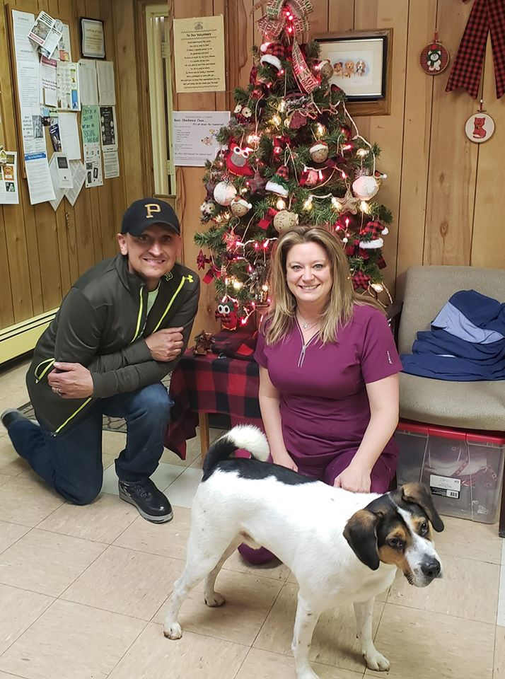 This pup got the greatest Christmas gift this year- a new home of his own. Courtesy Tri county Animal Shelter.