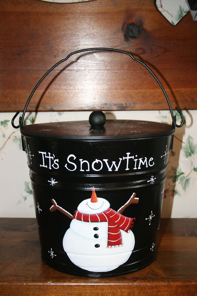 once upon snowman bucket