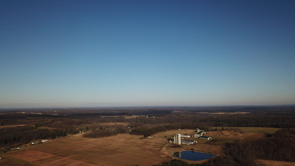 Overlooking Griebel's Dairy Farm in Lucinda. Submitted by Luke Siegel.