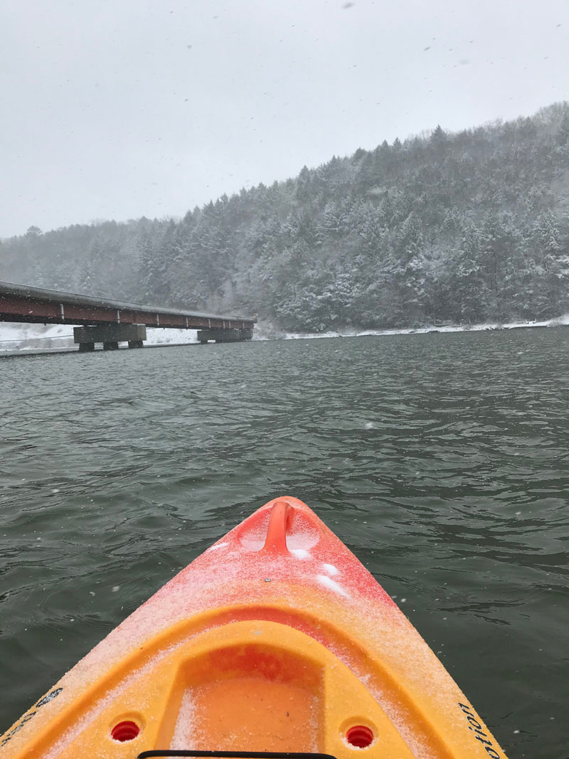 Kayaking on the Clarion River. Submitted by Shawn Zerfoss.