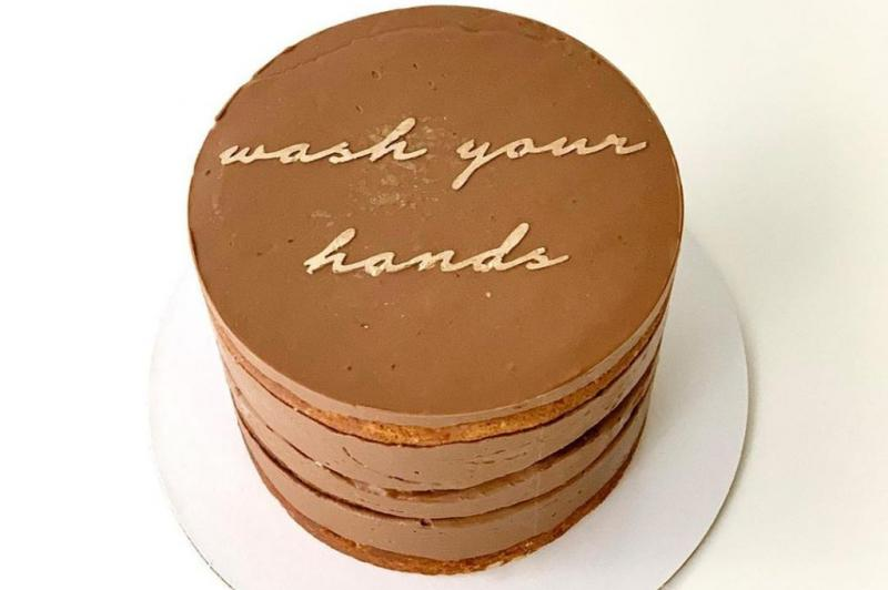 Bakerys-Quarantine-Cakes-say-wash-your-hands-dont-touch-your-face