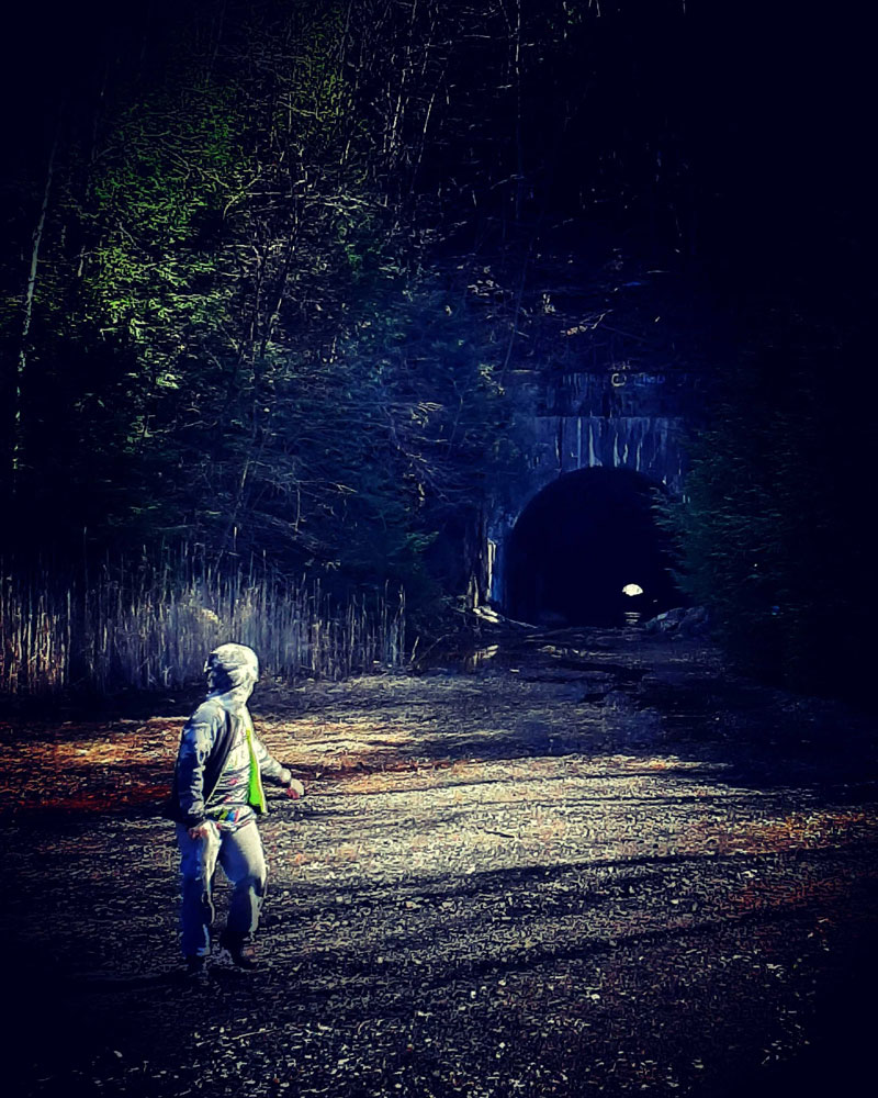 At the tunnel near the trestle outside Clarion. Submitted by Darren Troese.