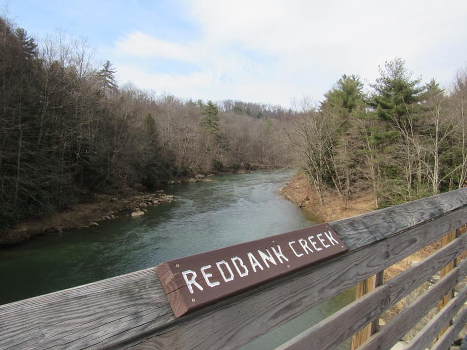 On the Redbank Trail. Photo by Brandon Kocent. Courtesy of Hiking & Backpacking Pennsylvania.