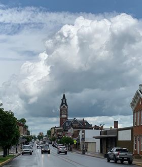 """Cumulus over the Courthouse."" Photo submitted by Melanie Shingledecker Parker."
