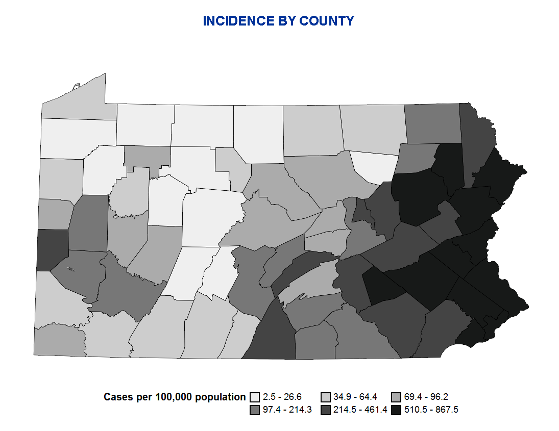 Incidence by County 5:7:20