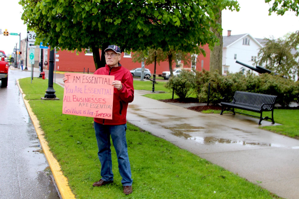 Photo taken by Ron Wilshire at the Clarion County Freedom Rally.
