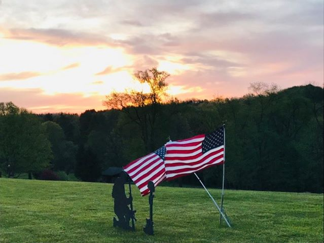 Dutch Hill preparing for Memorial Day. Photo submitted by Carol Adams.