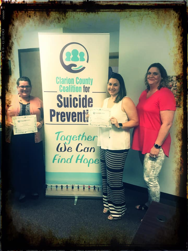 Clarion County Coalition for Suicide Prevention announced two scholarship winners, Becca Lander and Gracie Shawley. Courtesy of CCCSP Facebook.
