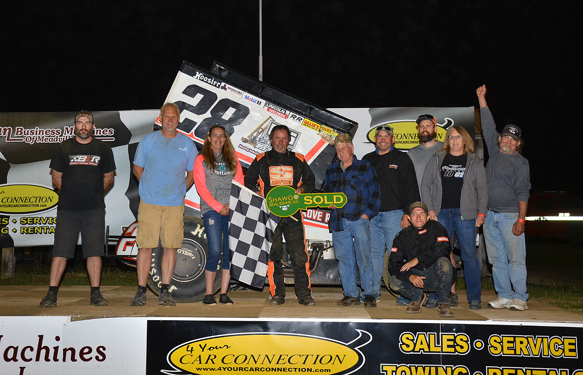 Four time All-Star champion Tim Shaffer and crew celebrate a popular win. Photo by Rick Rarer.