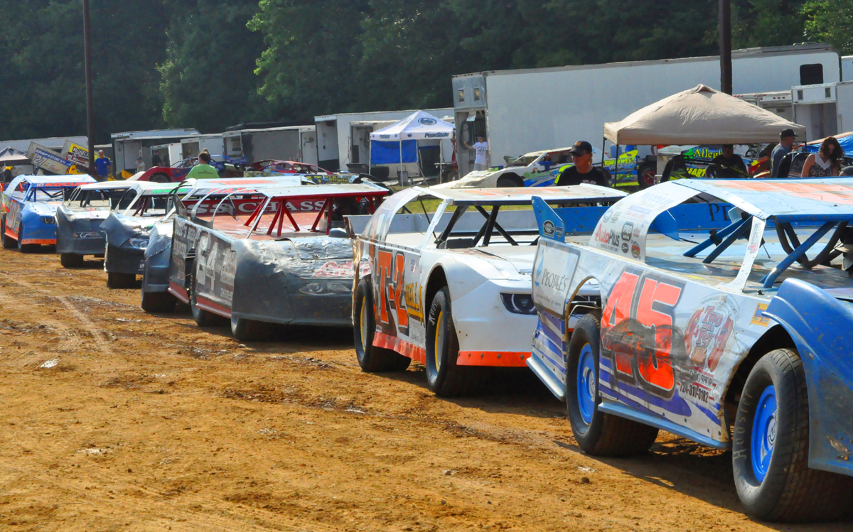 The pro stocks, who always bring a strong field of cars will be in action this Sunday. Photo by Rick Rarer.