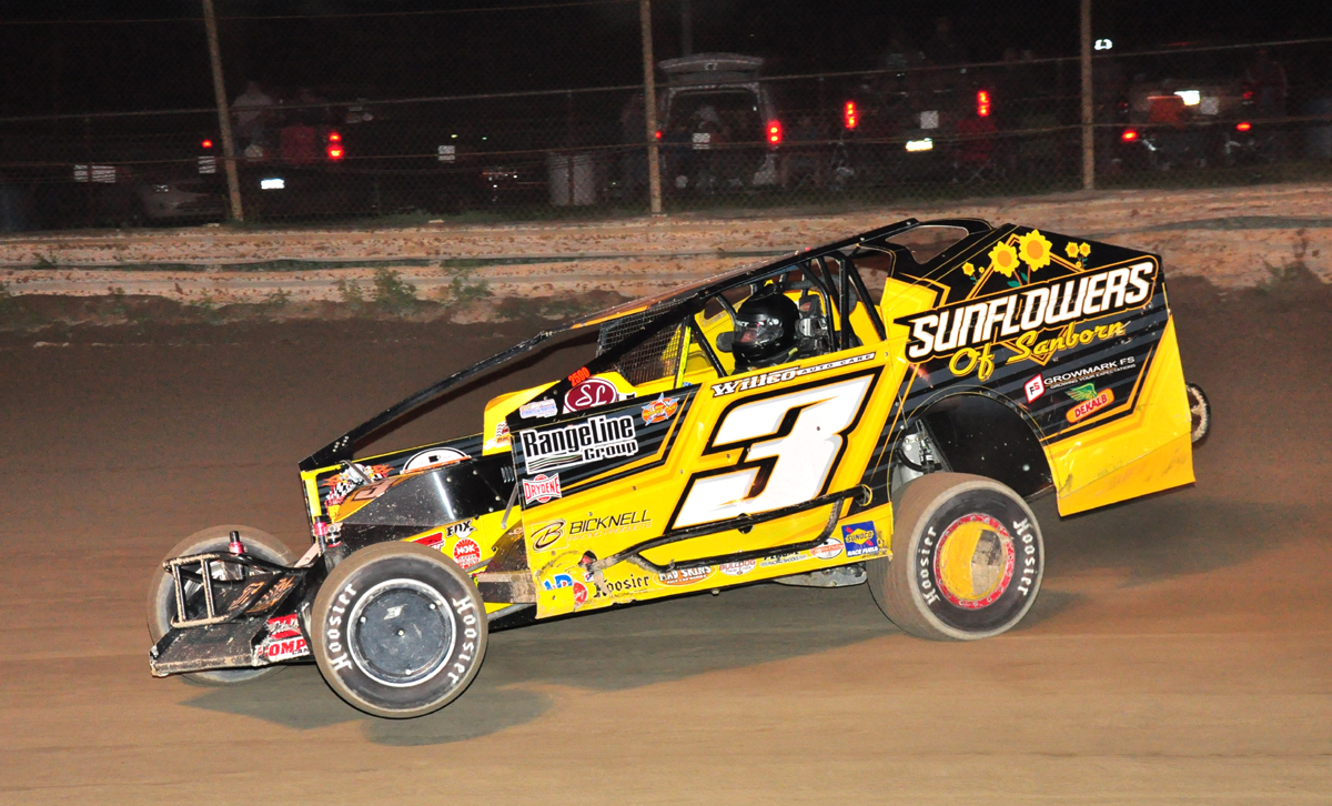 New York invader Chad Brachman took home five thousand dollars for his big win at Mercer Raceway. Photo by Rick Rarer.