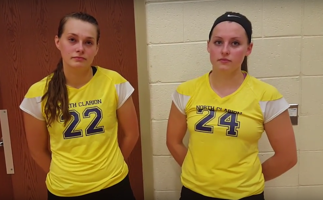 Wagner and Obenrader North Clarion Volleyball