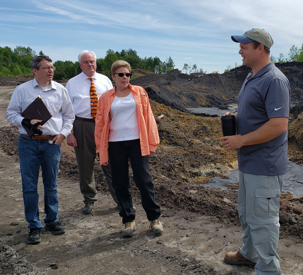 Sec. McDonnell at Mine Reclamation