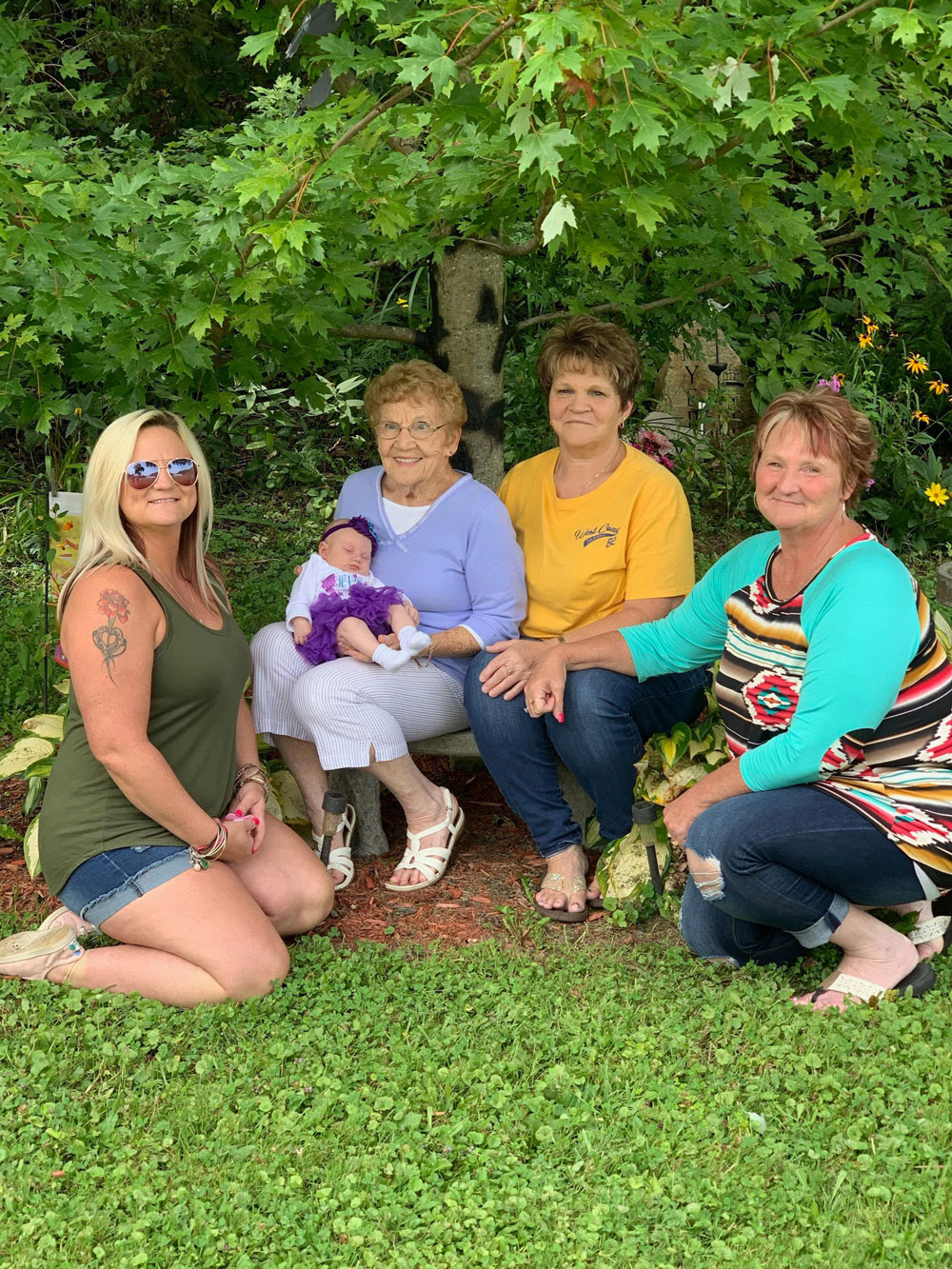 Five generations of the C. Eugene Myers family. Photo taken on the Myers homestead under the spirt tree. Submitted by Chad Stiller.