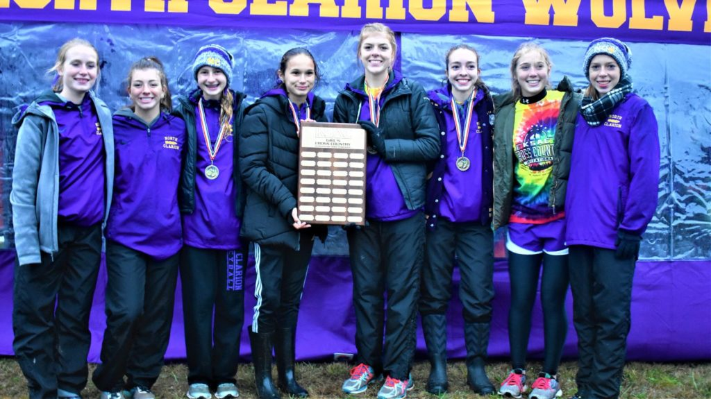 North Clarion Girls XC KSAC Champs 2019