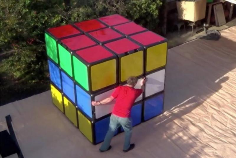 British-inventors-Rubiks-cube-is-6-feet-8-inches-tall