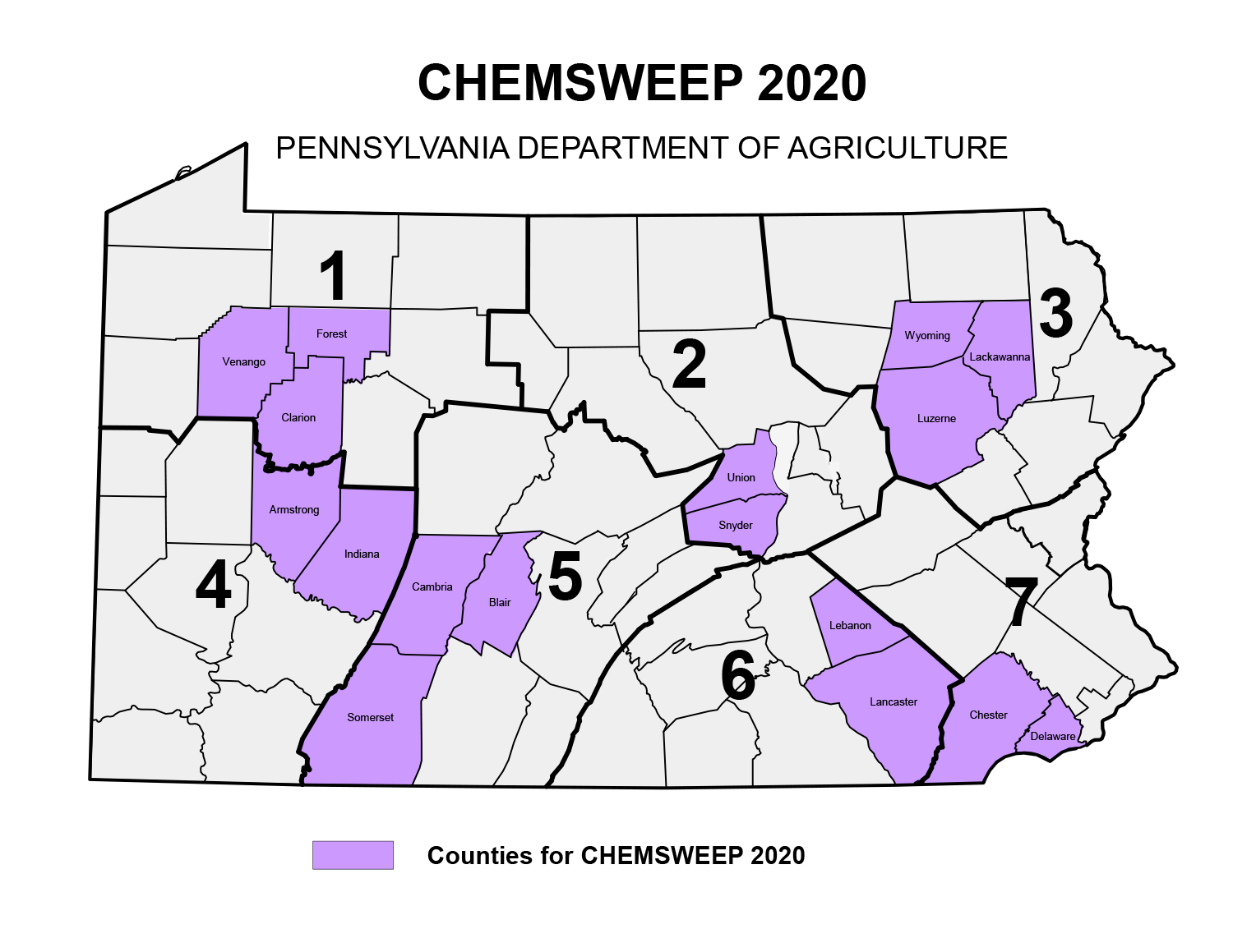 2020 Chemsweep Map