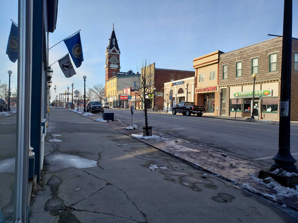 Downtown Main Street Clarion winter 2