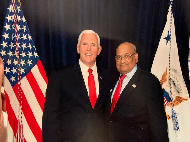 Ash Khare with Vice President Pence.