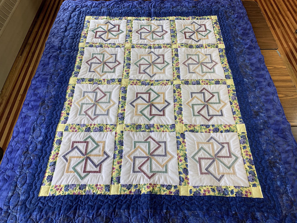 Simply Beautiful is one of over 15 handmade quilts featured in St. Joseph's July 4 online auction and sale. Activities also include 3 online drawings and are open now through Independence Day.