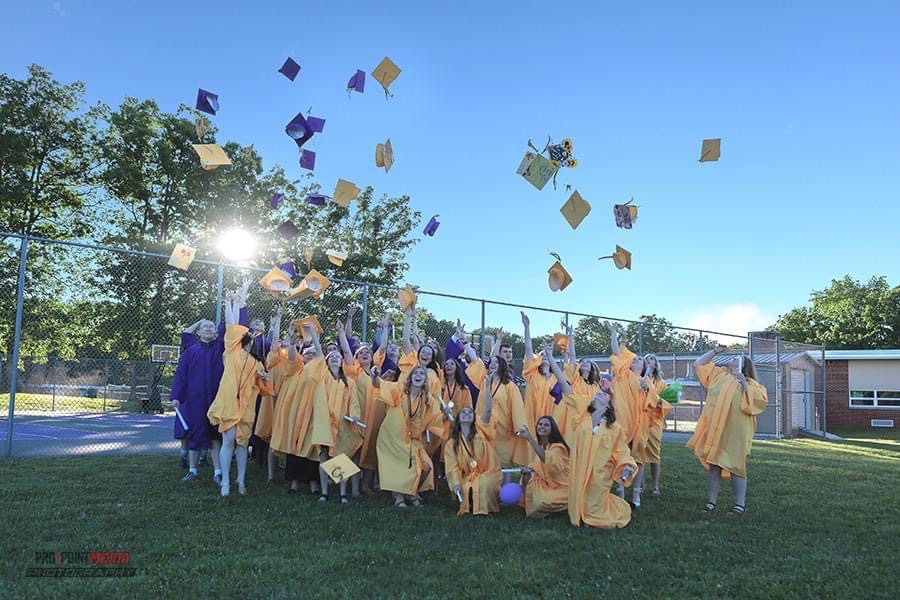 North Clarion HS held a more traditional commencement ceremony on June 12. Photo courtesy of Dave Cyphert of ProPoint Media Photography.