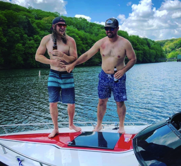 """""""Boating on the river with the boiz."""" Submitted by Jake Courson."""