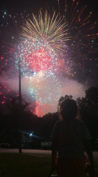 """""""Fourth of July shenanigans featuring New Bethlehem fire works and our daughter Averie."""" Submitted by Corey Morris. Clarion Co. photo of the day is brought to you by Window World of Butler."""