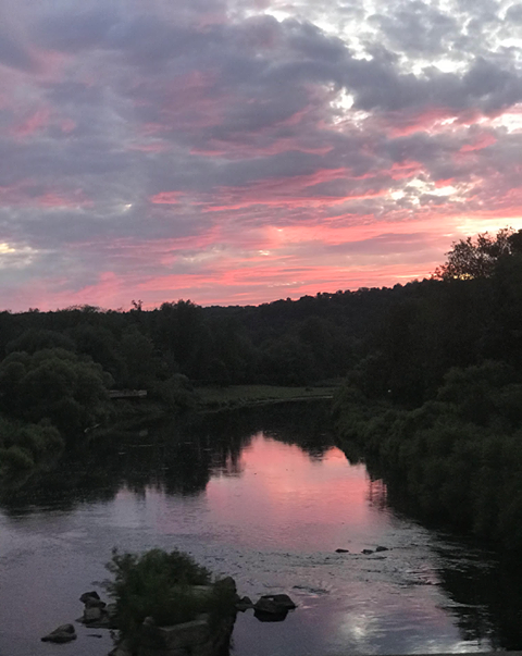 Oak Ridge view from the bridge on the evening of July 20th beside the Brick House Bed and Breakfast. Submitted by Crystal Anthony. The Clarion County Photo of the Day is brought to you by Window World of Butler.