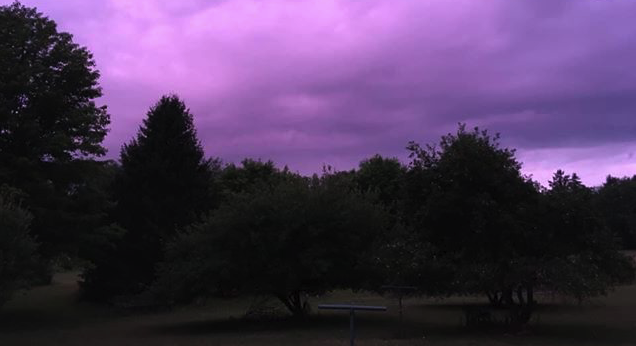 Purple sunset in Strattanville. Submitted by Kathy Wise. Clarion County Photo of the Day is brought to you by Window World of Butler.